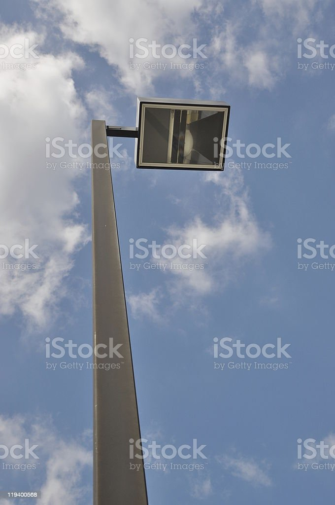 Street Light with nature background stock photo