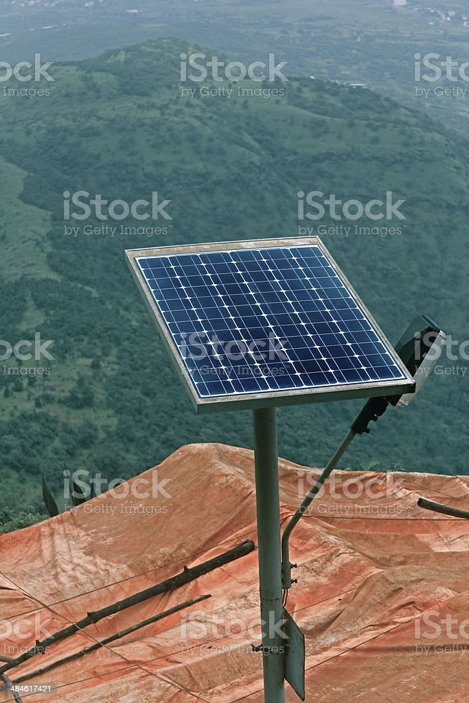 Street Light with solar pannel royalty-free stock photo