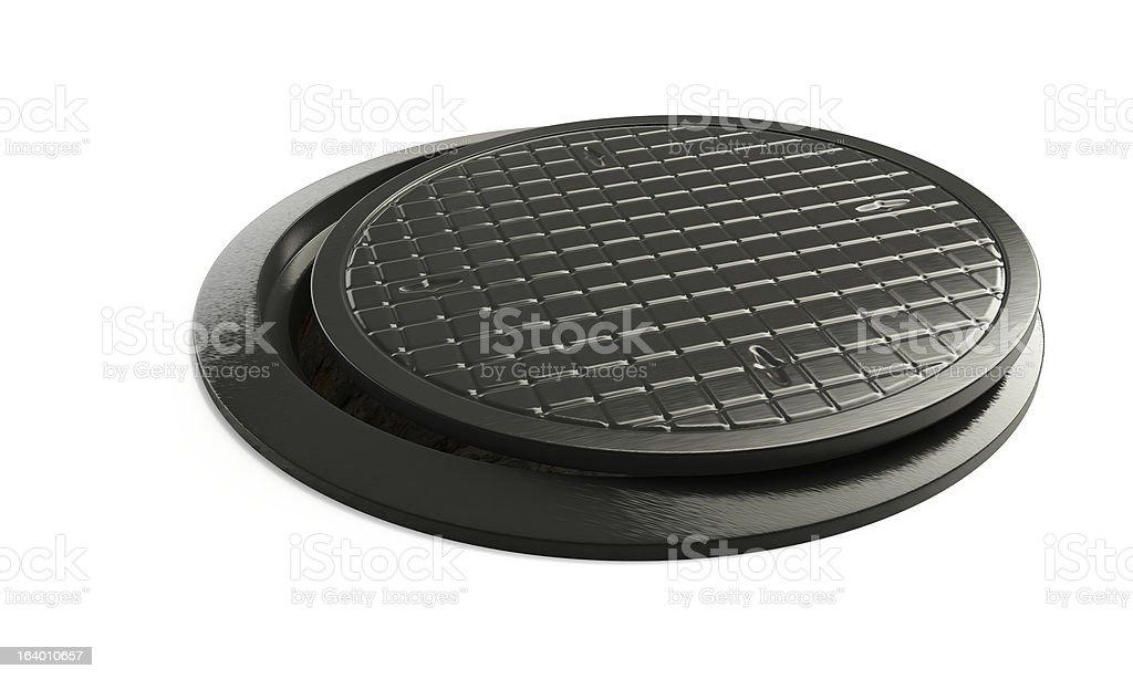 street manhole royalty-free stock photo