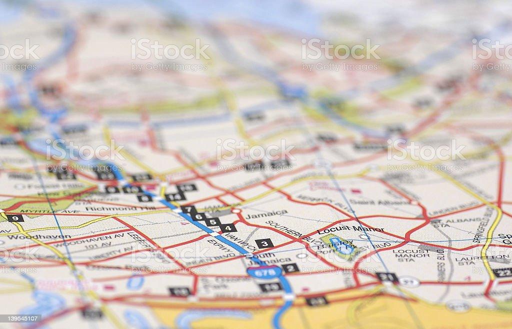 Street Map royalty-free stock photo