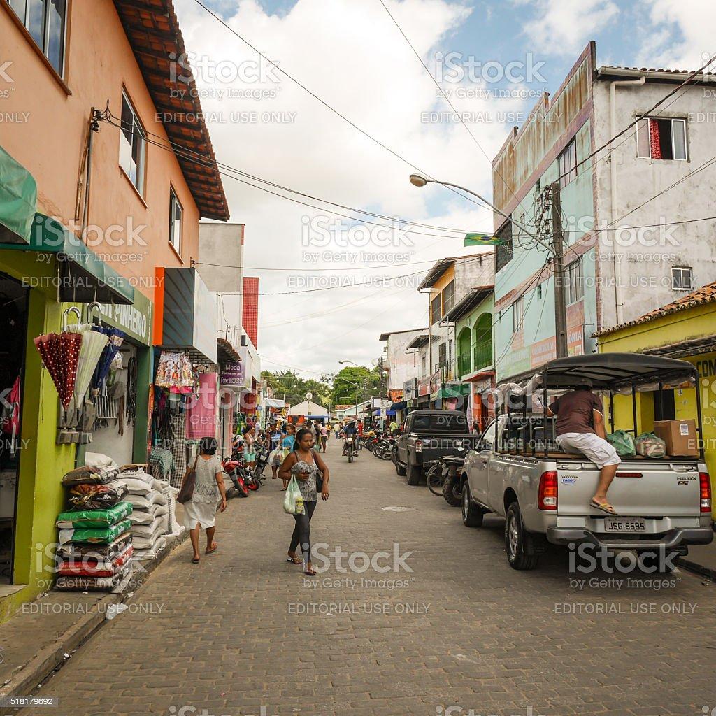 Street market, Barreirinhas, Brazil stock photo