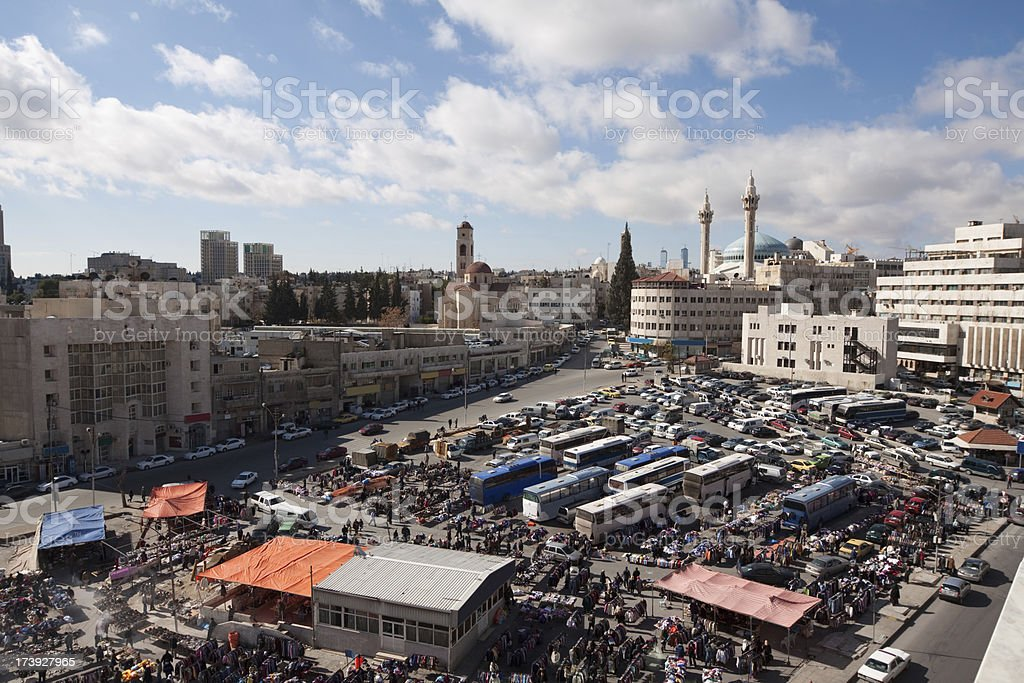 Street Market in Amman royalty-free stock photo
