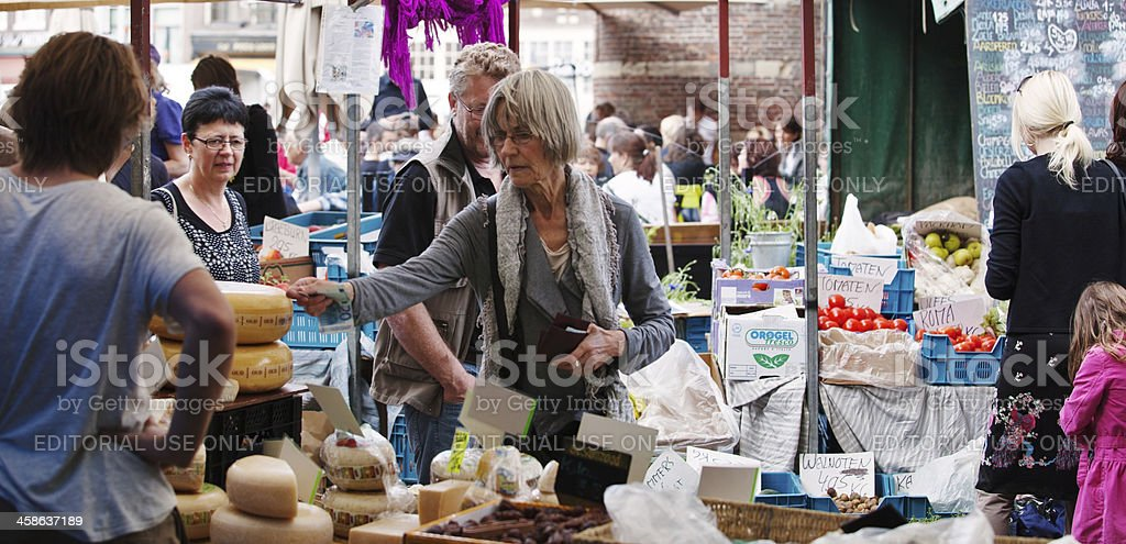 Street market in Amsterdam royalty-free stock photo
