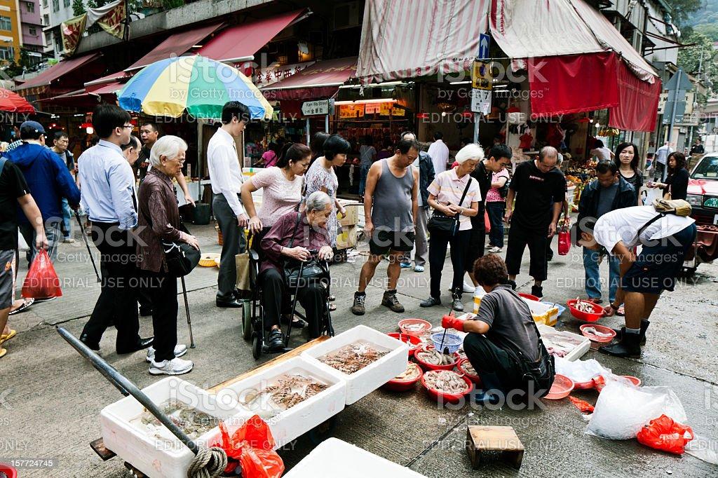 Street market in Hong Kong stock photo