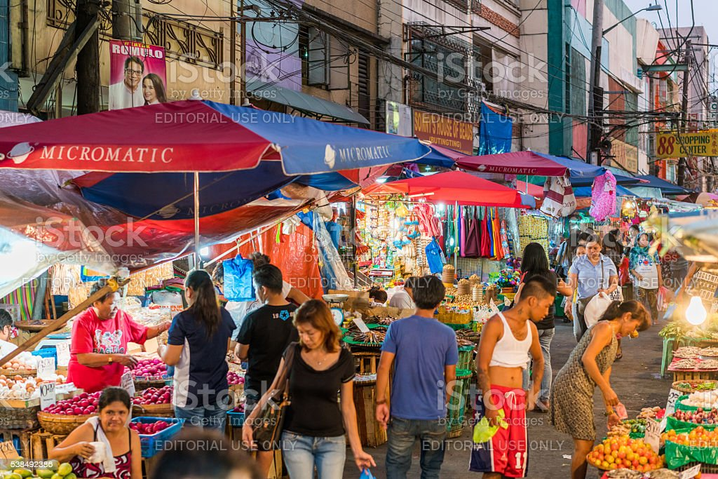 Street Market in Manila, Philippines stock photo