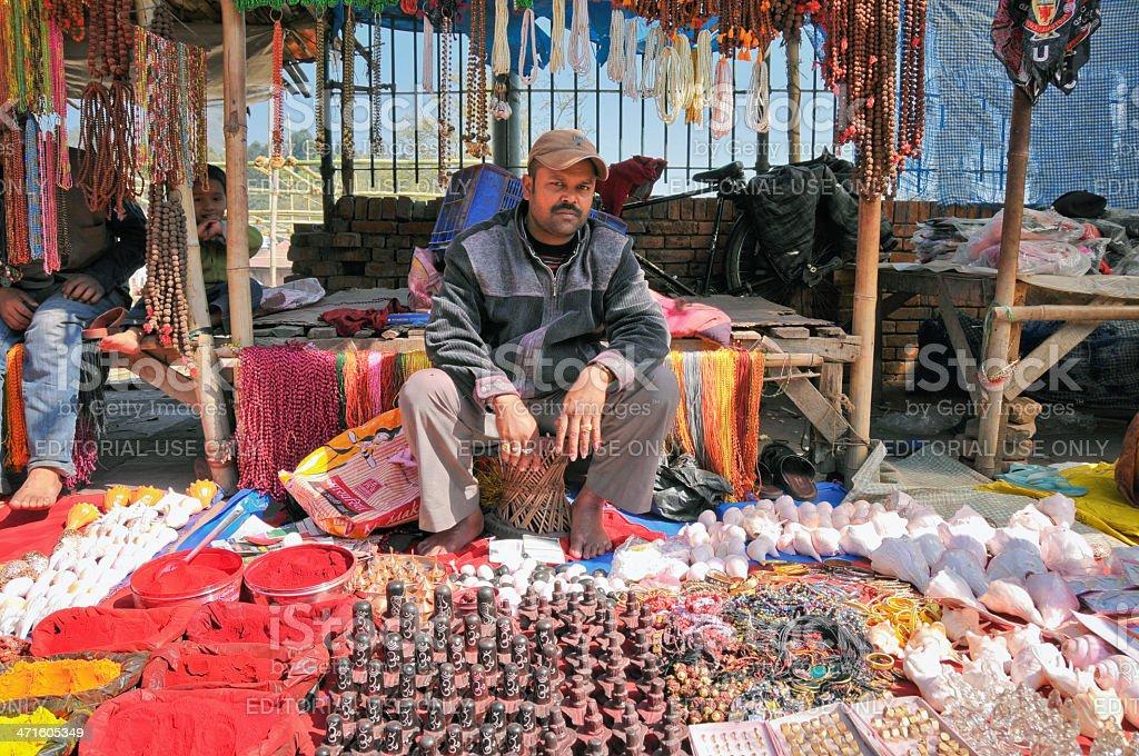 Street Market in Nepal stock photo