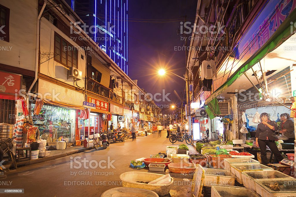 Street Market in Shanghai royalty-free stock photo