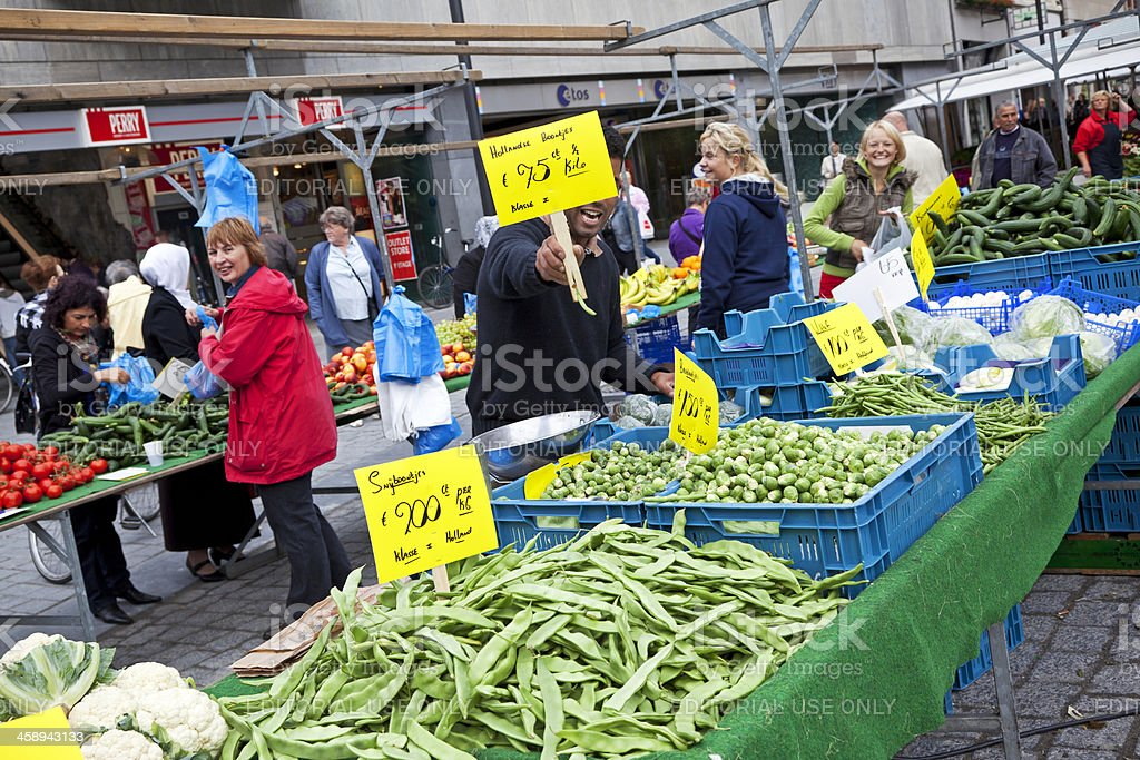 Street market in 's-Hertogenbosch # 2 XXL stock photo