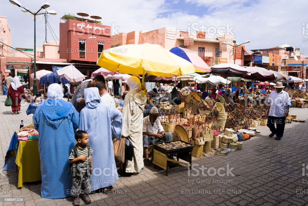 Street Market in the Medina of Marrakesh royalty-free stock photo