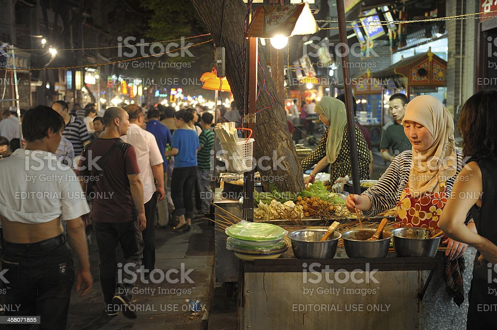 Street market in Xi'an royalty-free stock photo