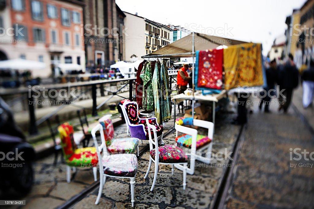 Street Market - Milano. Color Image royalty-free stock photo
