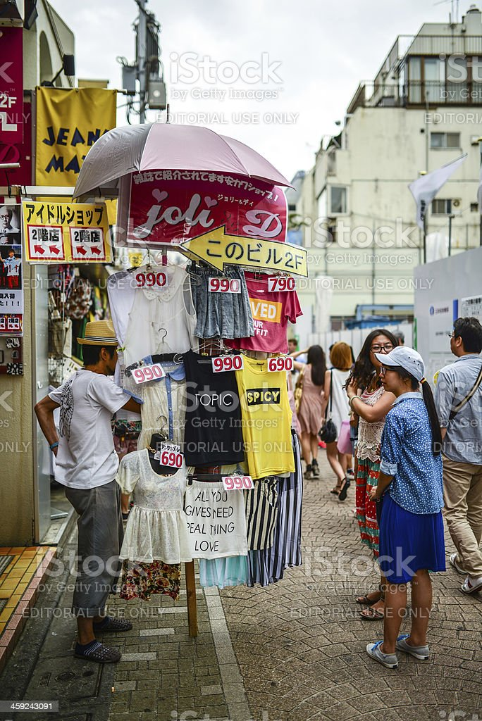 Street Merchants in Harajuku, Tokyo, Japan royalty-free stock photo