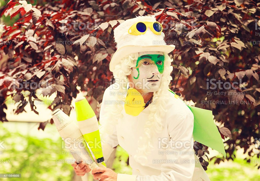 Street mime artist performing on Gezi Park protests stock photo