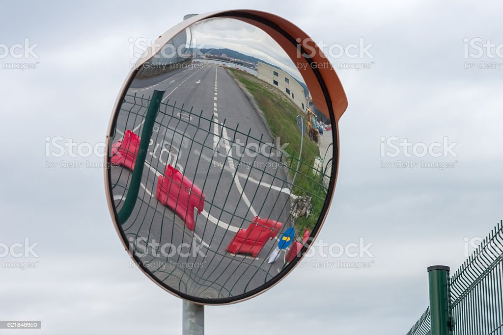 street mirrors the review turns stock photo