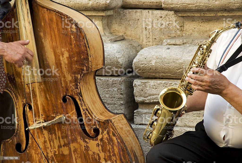 Street music stock photo