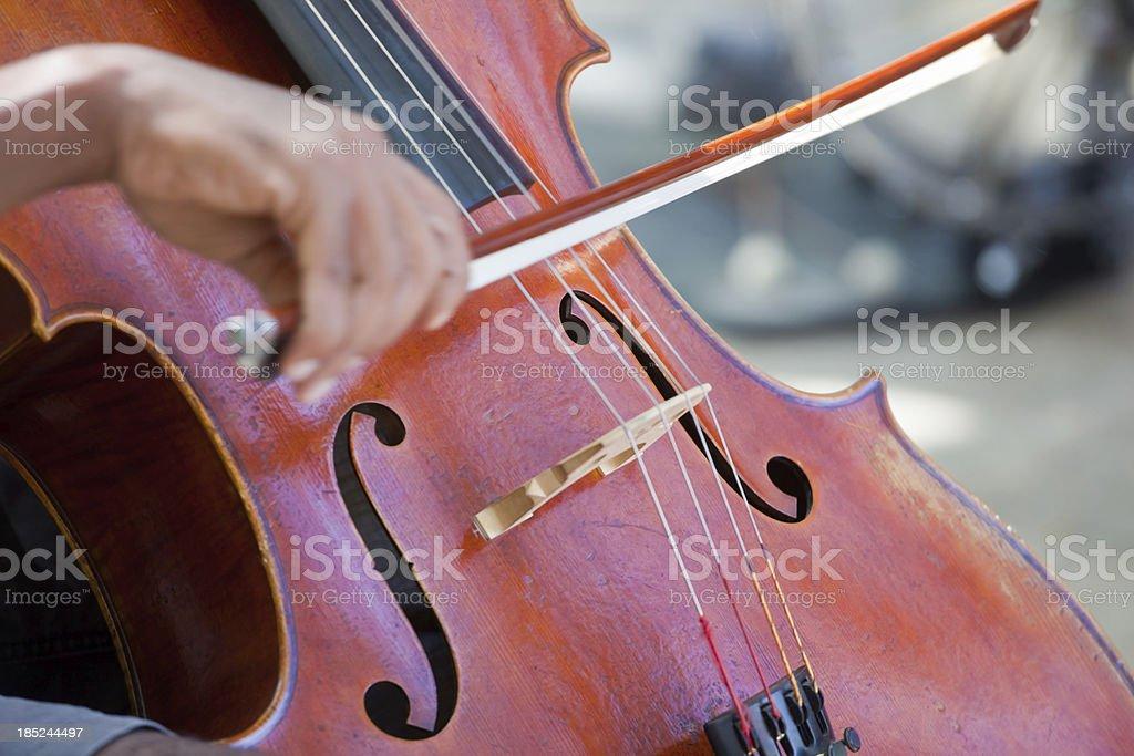 Street Musician Cellist stock photo