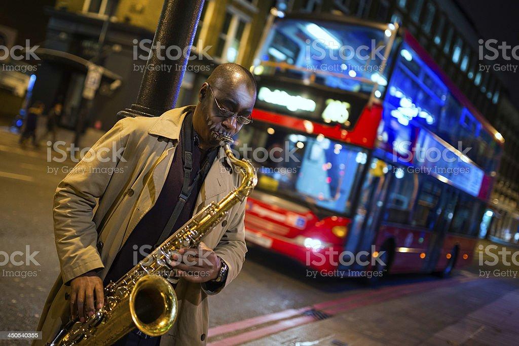 Street Musician in London stock photo