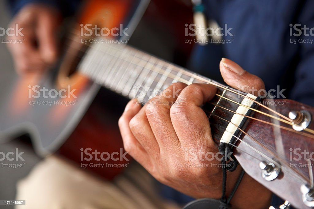 Street musician royalty-free stock photo