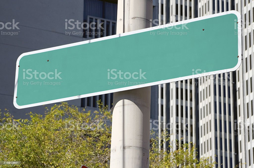 Street Name Sign: Copy Space royalty-free stock photo