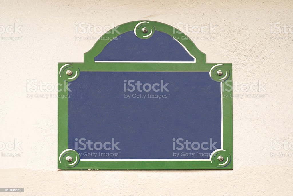 street name sign in paris stock photo