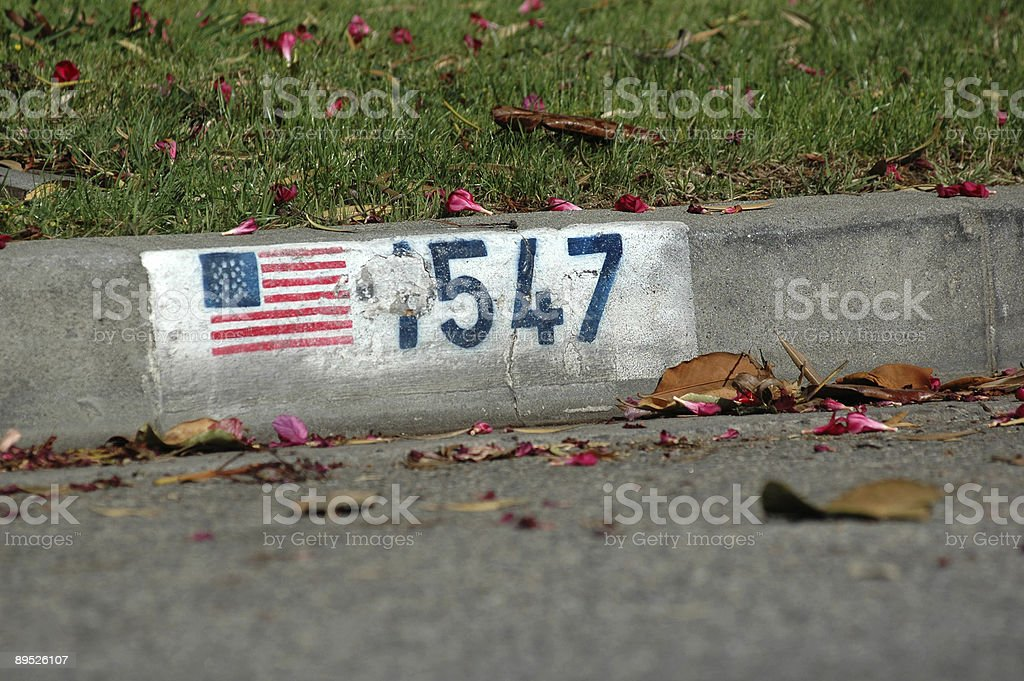 Street Number royalty-free stock photo