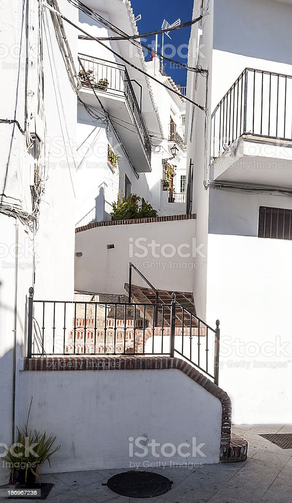 Street of Frigiliana royalty-free stock photo