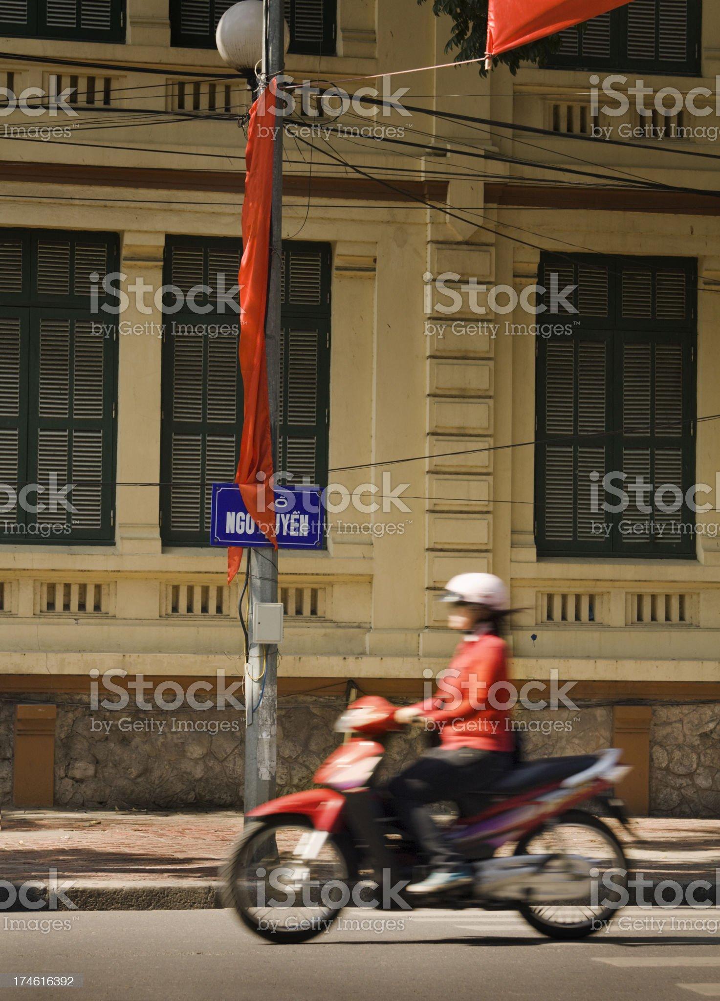 Street of Hanoi royalty-free stock photo
