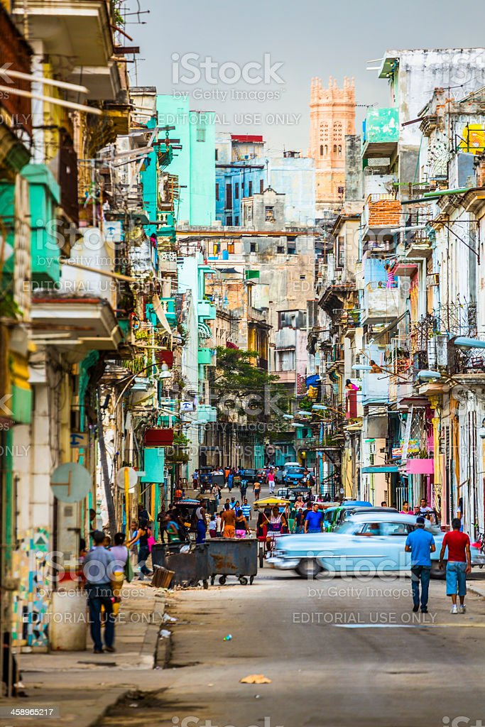 Street of Havana, Cuba stock photo