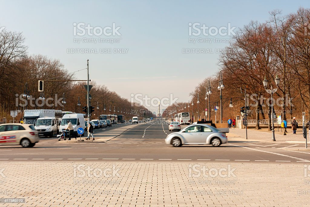 Straße des 17. Juni stock photo