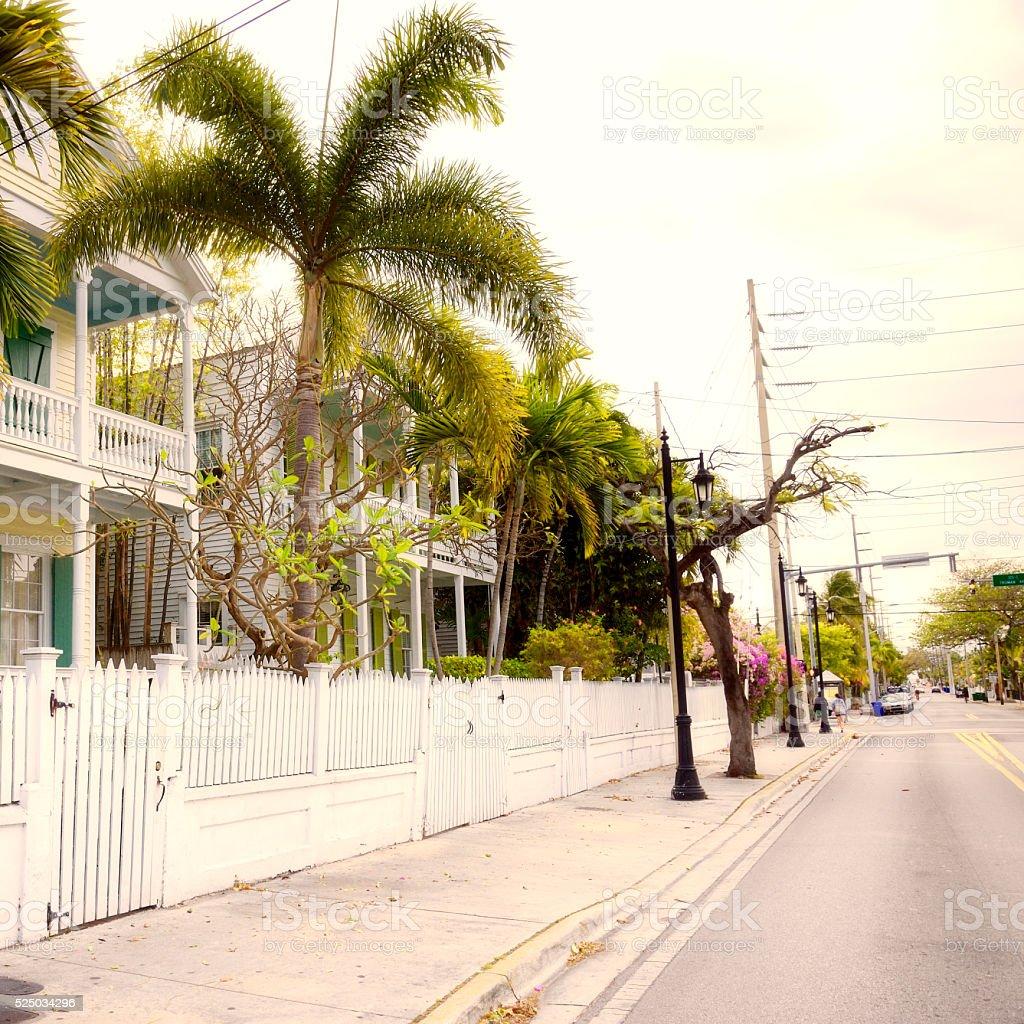 Street of Key West stock photo