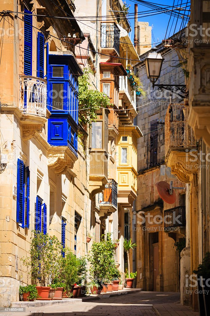 street of Malta stock photo