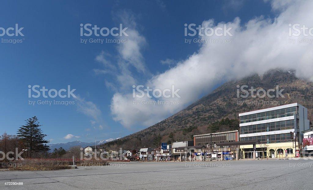 Street of Nikko stock photo