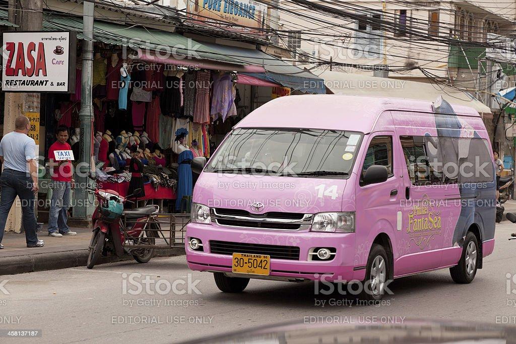 Street of Patong town royalty-free stock photo