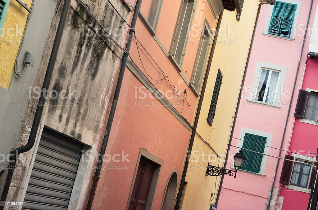 Street of Pisa - una via pisana royalty-free stock photo