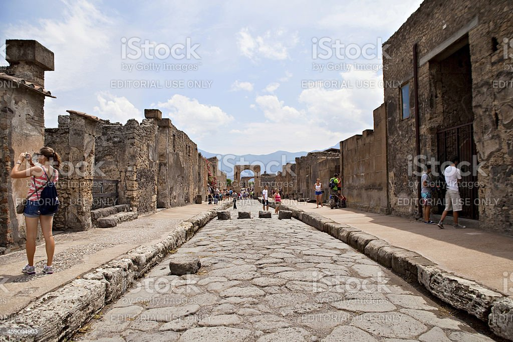 Street of Pompeii royalty-free stock photo