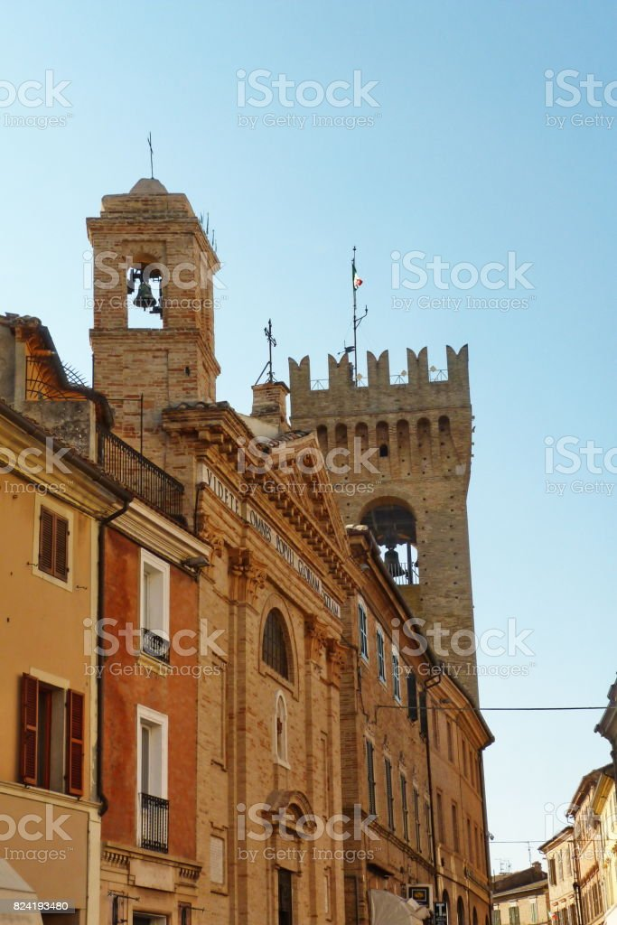 Street of Recanati stock photo