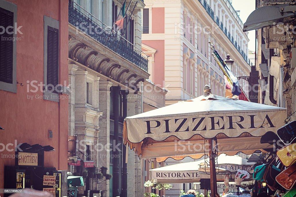 street of Rome stock photo