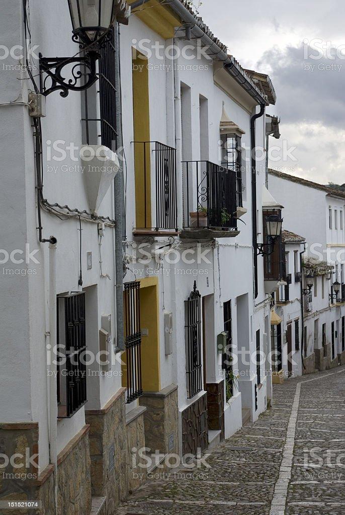 Street of Ronda (Spain). royalty-free stock photo