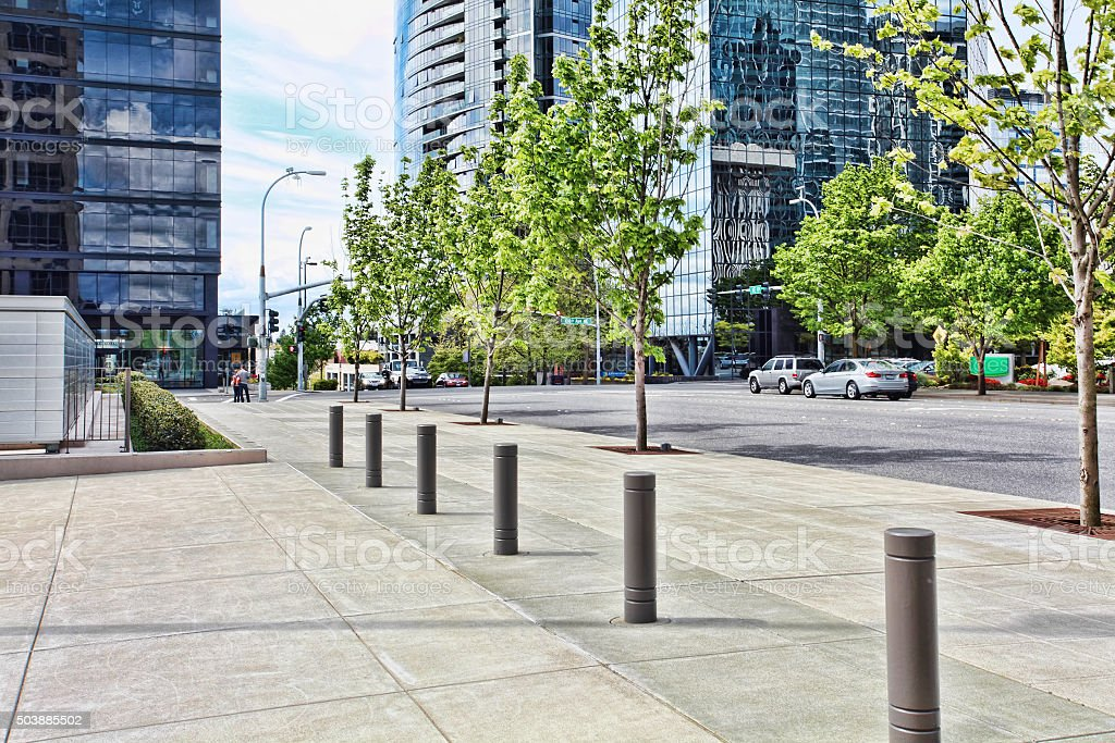 Street of Seattle, Washington. stock photo