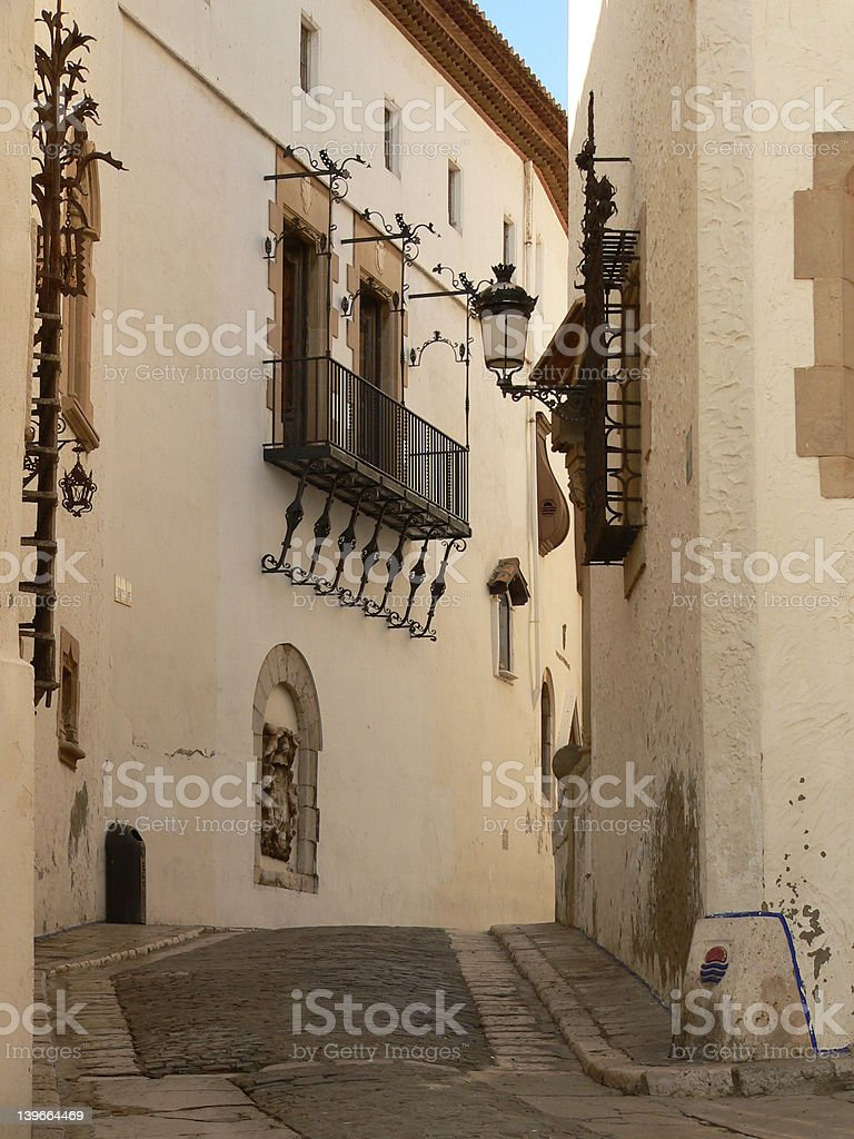 Street of  Sitges (Spain) royalty-free stock photo