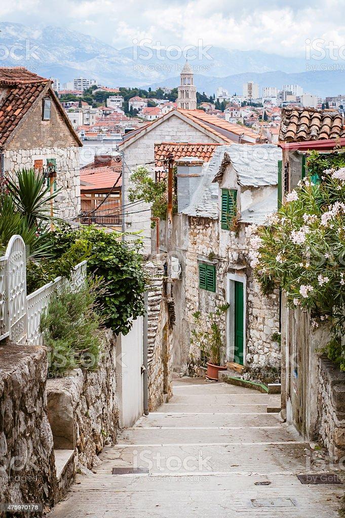 Street of Split, Croatia stock photo