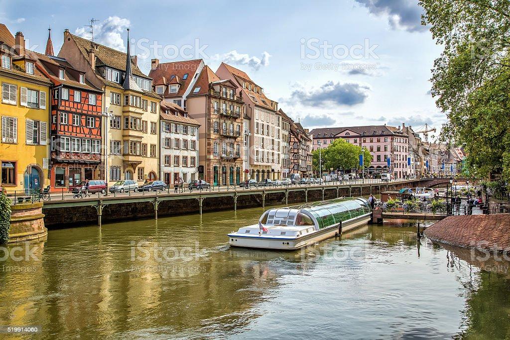 Street of Strasbourg stock photo