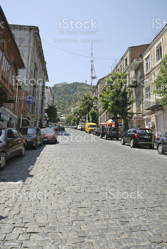 street of Tbilisi royalty-free stock photo