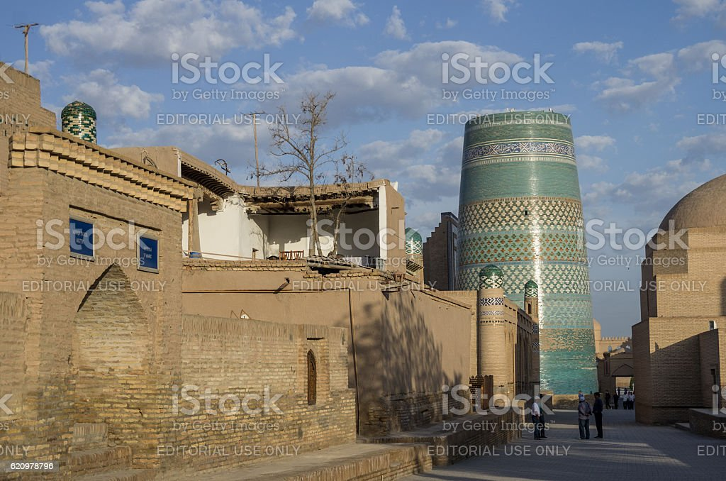 Street of the old city of Khiva stock photo
