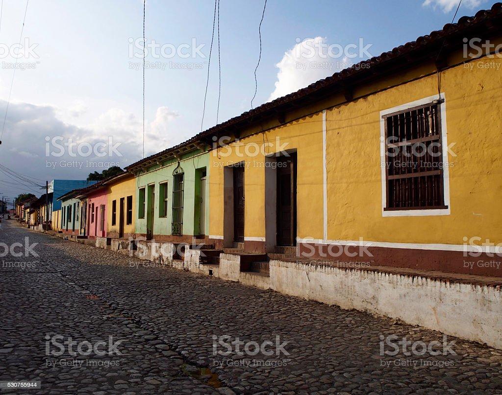 Street of Trinidad stock photo