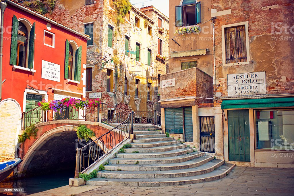 Street of Venice stock photo