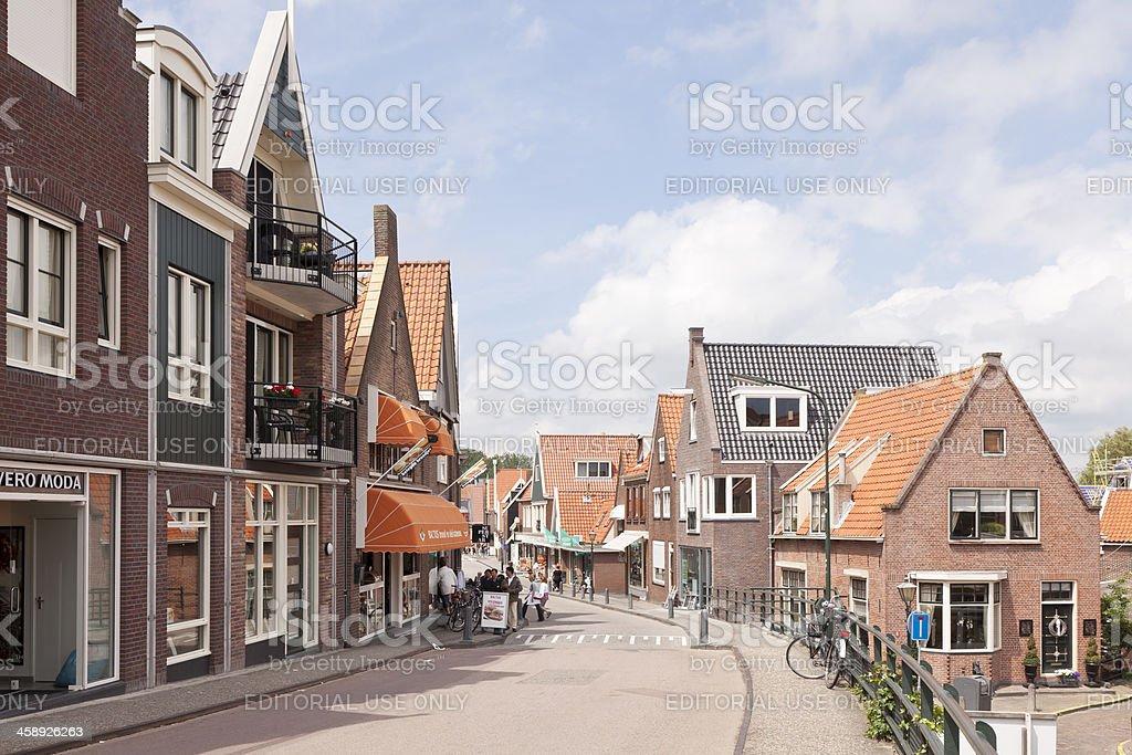 Street of Volendam stock photo