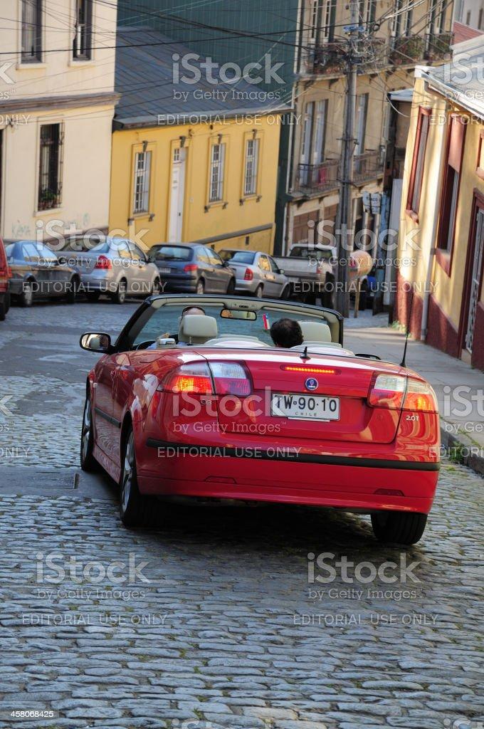 Street on Valparaiso stock photo
