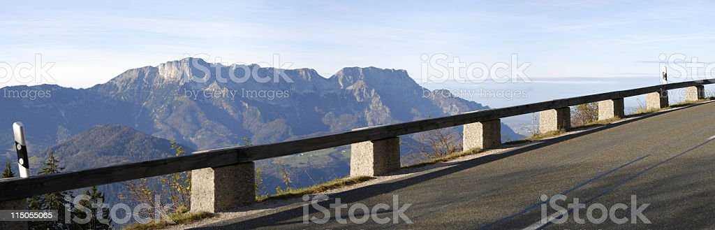 street over the mountains in austria royalty-free stock photo