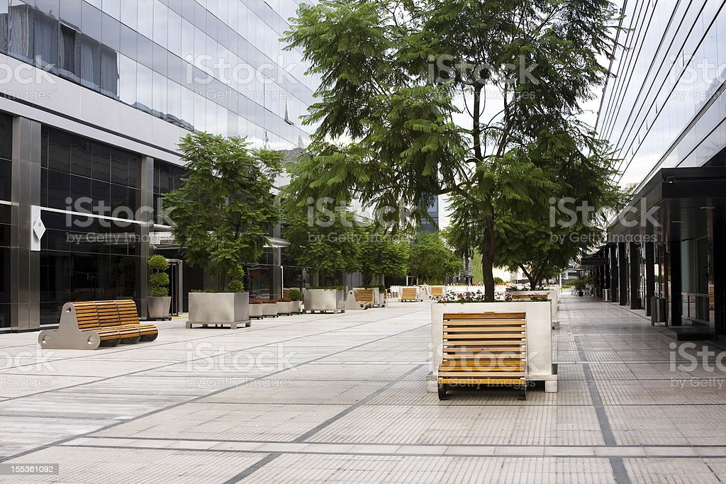 Street passage in Puerto Madero stock photo